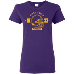 Black And Gold Pittsburgh T-shirt G500L Gildan Ladies' 5.3 oz. T-Shirt - teesdiys