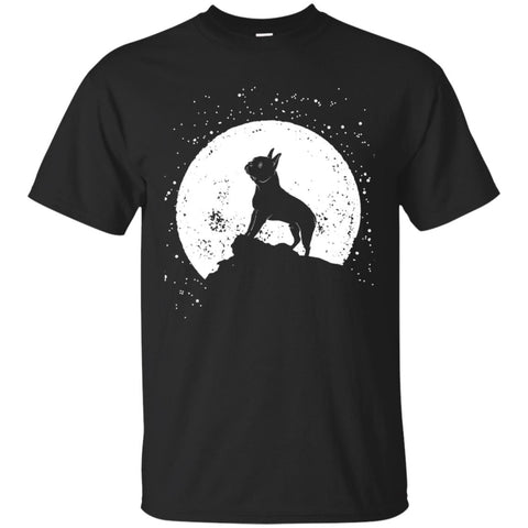 Moon With Boston Terrier Funny Halloween Men's T-Shirt