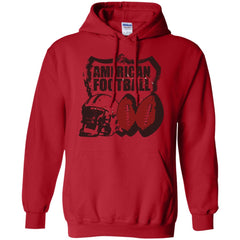 American Football T-shirt - teesdiys G185 Gildan Pullover Hoodie 8 oz. - teesdiys