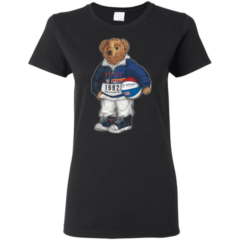 Bigger Bear With Ball T-shirt Black / S G500L Gildan Ladies' 5.3 oz. T-Shirt - teesdiys