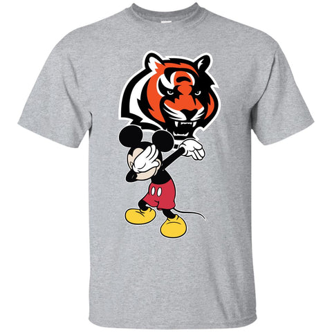 Dabbing Mickey Funny Love Cincinnati Bengals America Football Men's T-Shirt