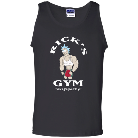 Best Rick And Morty Rick's Gym Gon Give It To Ya T Shirt Top Black / Small G220 Gildan 100% Cotton Tank Top - teesdiys