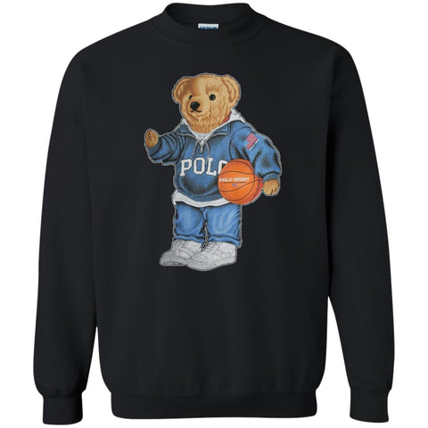 Bigger Bear With Sport Fashion T-shirt Black / S G180 Gildan Crewneck Pullover Sweatshirt 8 oz. - teesdiys