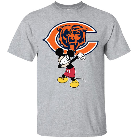 Dabbing Mickey Funny Love Chicago Bears America Football Men's T-Shirt