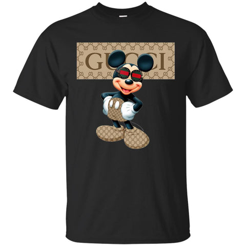 Funny Mickey With Gucci Sunglass T-shirt