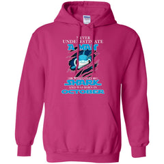 Nerver Underestimate A Man Who Love Shark And Was Born In October Hoodie Hoodie - teesdiys
