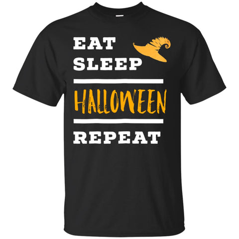 Funny Halloween With Eat And Sleep Men's T-Shirt Black / S Men's T-Shirt - teesdiys