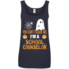 Trending You Can't Scare Me I'm A School Counselor Halloween Shirt - teesdiys 882L Anvil Ladies' 100% Ringspun Cotton Tank Top - teesdiys