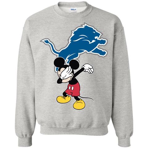 Dabbing Mickey Funny Love Detroit Lions America Football Sweatshirt