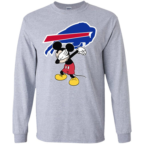 Dabbing Mickey Funny Love Buffalo Bills America Football Long Sleeve T-Shirt