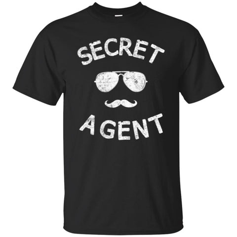 Funny Halloween With Secret Agent Men's T-Shirt Black / S Men's T-Shirt - teesdiys