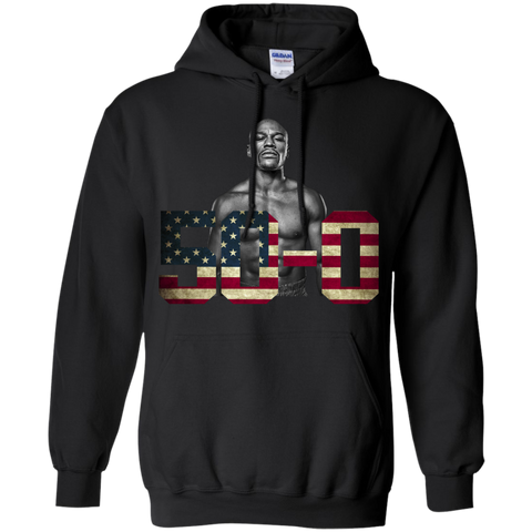 Best Floyd Mayweather 50 0 Undefeated T Shirt - teesdiys Black / Small G185 Gildan Pullover Hoodie 8 oz. - teesdiys