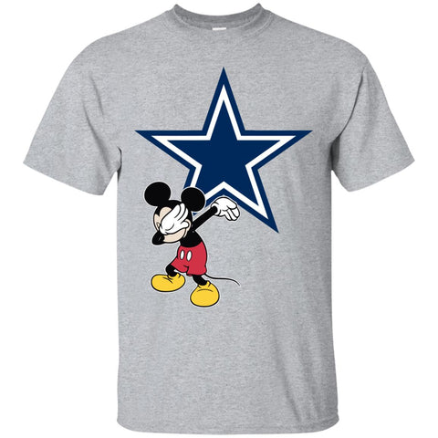 Dabbing Mickey Funny Love Dallas Cowboys America Football Men's T-Shirt