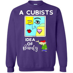 A Cubists Idea Of Beauty T-shirt G180 Gildan Crewneck Pullover Sweatshirt 8 oz. - teesdiys