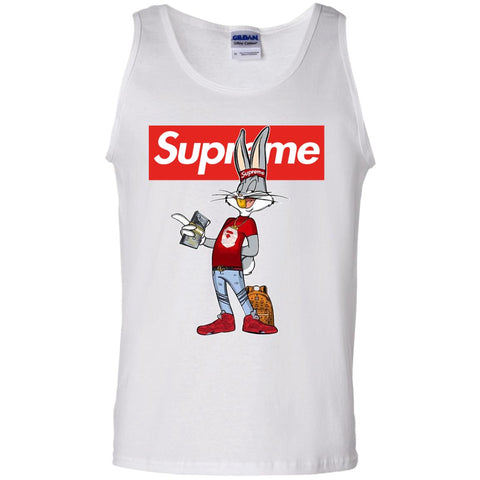 Bug Bunny Hip Hop Supreme T-shirt White / Small G220 Gildan 100% Cotton Tank Top - teesdiys