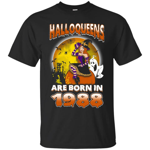 Funny Halloween Halloqueens Are Born In 1988 Men's T-Shirt