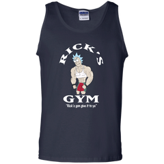 Best Rick And Morty Rick's Gym Gon Give It To Ya T Shirt Top G220 Gildan 100% Cotton Tank Top - teesdiys