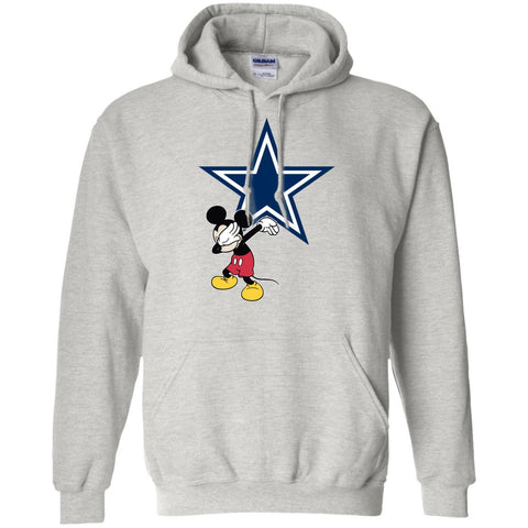 Dabbing Mickey Funny Love Dallas Cowboys America Football Hoodie
