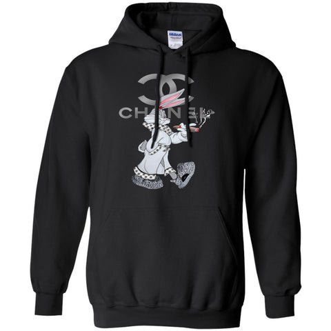Boss Bunny Chanel T-shirt Black / Small G185 Gildan Pullover Hoodie 8 oz. - teesdiys