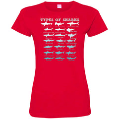 21 Types Of Sharks Marine Biology Women's T-Shirt Women's T-Shirt - teesdiys