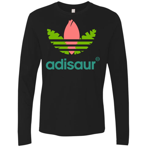 Adisaur Apparel T-shirt - teesdiys Black / Small NL3601 Next Level Men's Premium LS - teesdiys