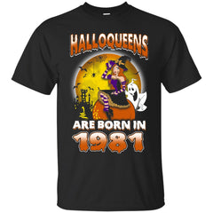 Funny Halloween Halloqueens Are Born In 1981 Men's T-Shirt Men's T-Shirt - teesdiys