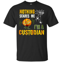 Nothing Scares Me In Halloween I'm A Custodian Men's T-Shirt