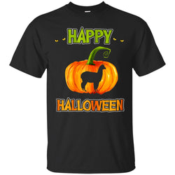 Happy Halloween With Pumpking And Llama Men's T-Shirt