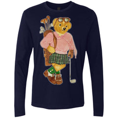 Bigger Bear Golf T-shirt NL3601 Next Level Men's Premium LS - teesdiys