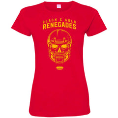 Black And Gold Renegades T-shirt 3516 LAT Ladies' Fine Jersey T-Shirt - teesdiys