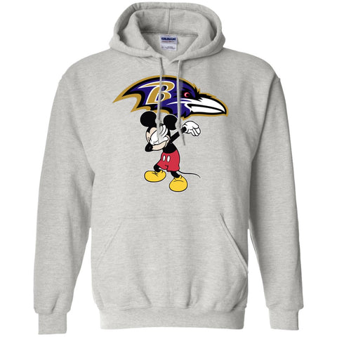 Dabbing Mickey Funny Love Baltimore Ravens America Football Hoodie