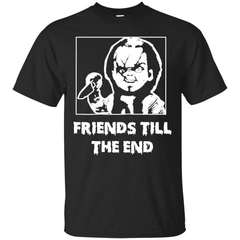Halloween With Chucky Friends Till The End Men's T-Shirt Black / S Men's T-Shirt - teesdiys