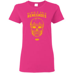 Black And Gold Renegades T-shirt G500L Gildan Ladies' 5.3 oz. T-Shirt - teesdiys