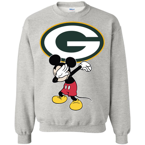 Dabbing Mickey Funny Love Green Bay Packers America Football Sweatshirt