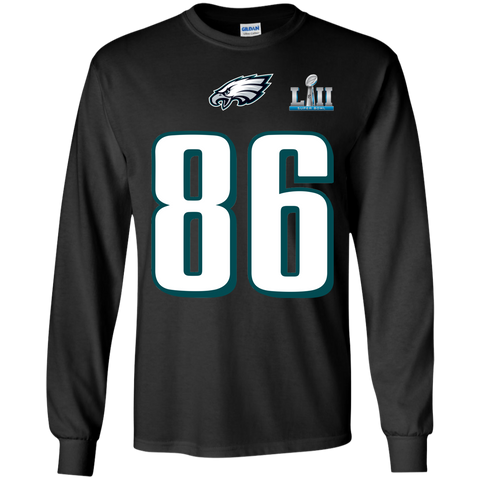 Best Super Bowl Philadelphia Eagles Zach Ertz 86 T Shirt Black / Small LS Ultra Cotton T-Shirt - teesdiys