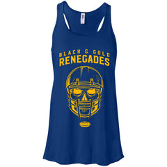Black And Gold Renegades T-shirt B8800 Bella Canvas Flowy Racerback Tank - teesdiys