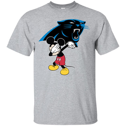 Dabbing Mickey Funny Love Carolina Panthers America Football Men's T-Shirt