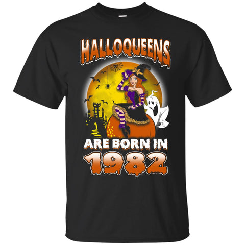 Funny Halloween Halloqueens Are Born In 1982 Men's T-Shirt