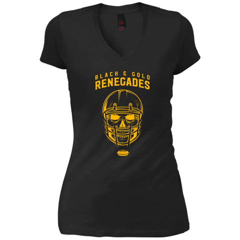 Black And Gold Renegades T-shirt Black / Small DT4501 District Junior's Vintage Wash V-Neck T-Shirt - teesdiys