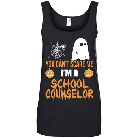Trending You Can't Scare Me I'm A School Counselor Halloween Shirt - teesdiys Black / Small 882L Anvil Ladies' 100% Ringspun Cotton Tank Top - teesdiys