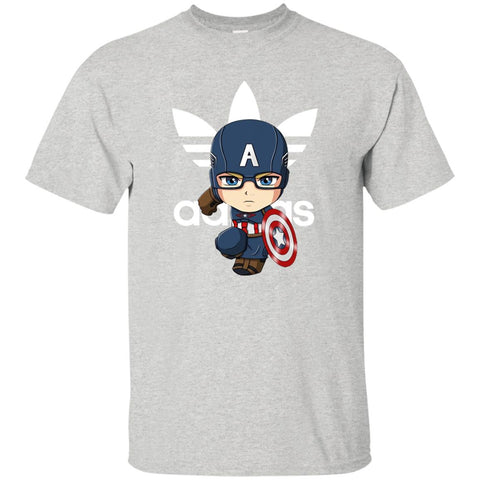 Funny Captain Chibi Avenger Adidas Fashion Men's T-Shirt