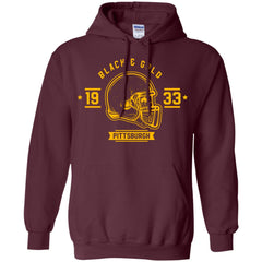 Black And Gold Pittsburgh T-shirt G185 Gildan Pullover Hoodie 8 oz. - teesdiys