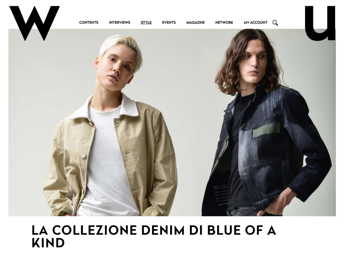 WU magazine - La collezione denim di Blue of a Kind