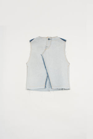 Fedora sleeveless top - upcycled garment