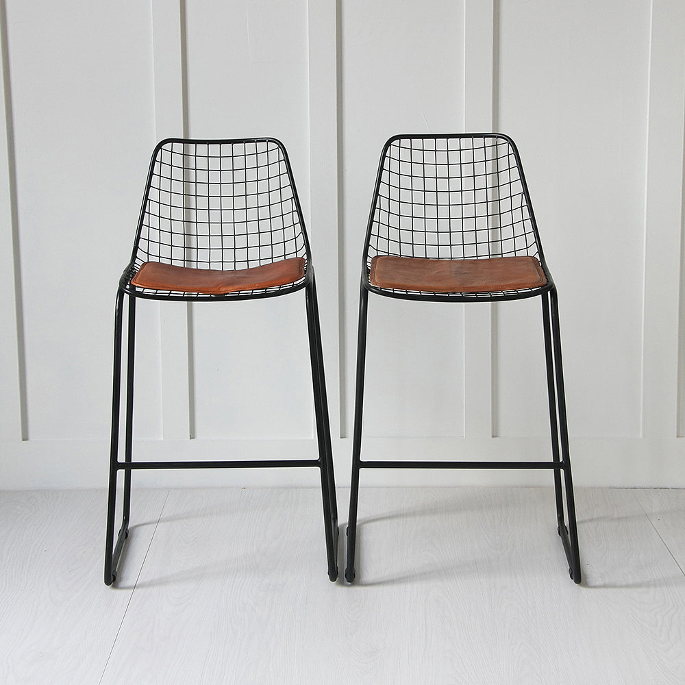 Black wire bar stool