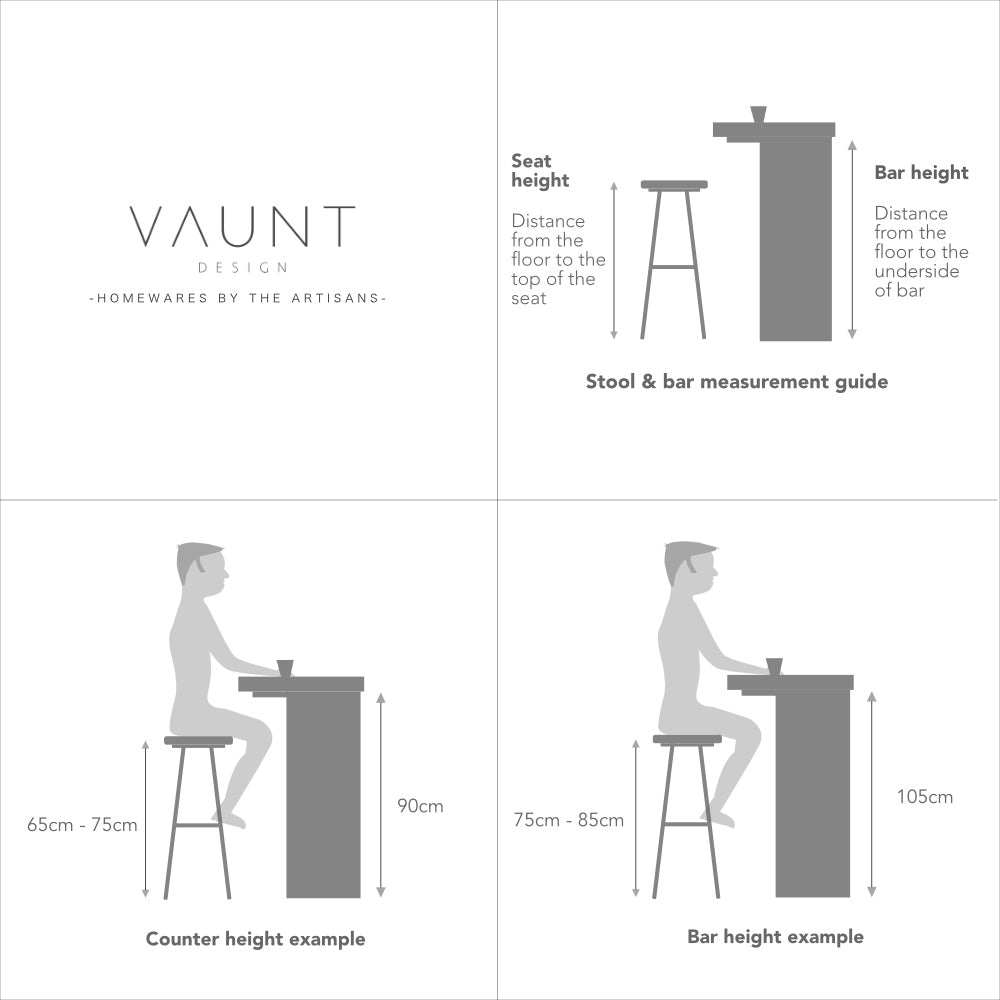 Bar Stool Height Calculator in CM  Vaunt Design