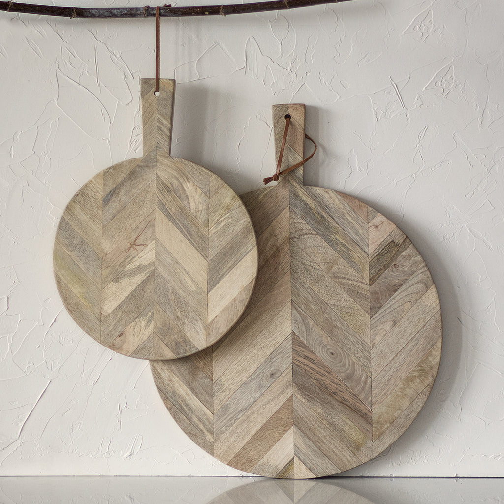 Rustic wooden chopping boards