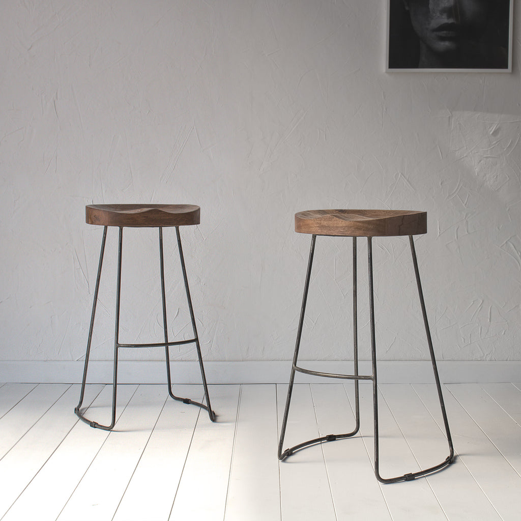 Wooden top bar stool