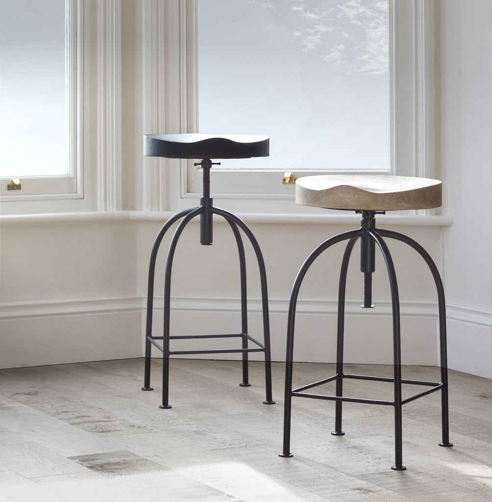 Wooden adjustable bar stools