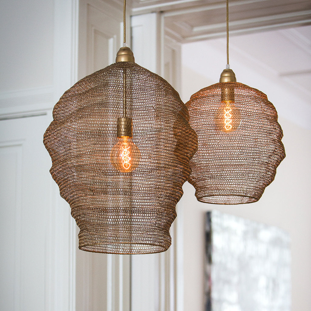 Bronze wire lampshade